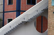 Leinwanddruck Bild - Treppe aus Stahl