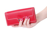 hand with purse feminine red poster