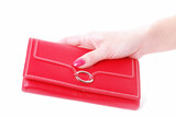 hand with purse feminine red 2 poster