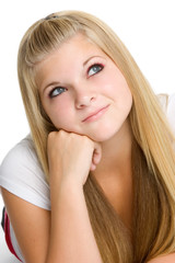 Thinking Blond Teen