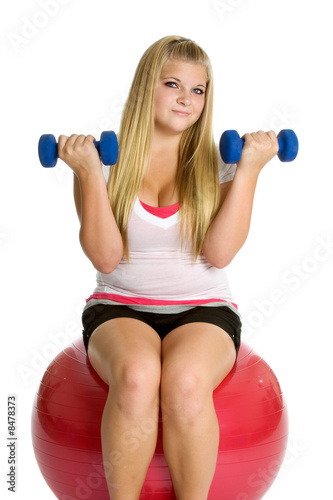 Exercising Teen