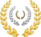 Fototapety laurel wreath gold, silver, bronze