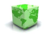 Fototapety Planète verte en boîte