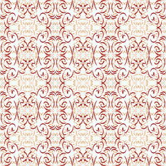 Seamless red and white ornament pattern