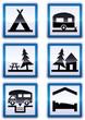 Panneaux de signalisation des services des vacances (détouré)