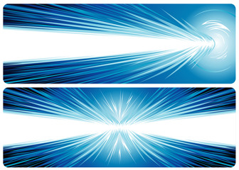 Banner design of powerful concept, vector layered file.