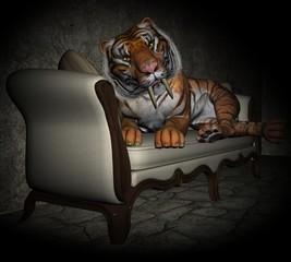 Tiger will kuscheln