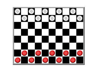 Board with checkers