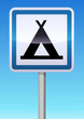 Panneau de signalisation camping