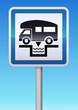 Panneau de signalisation point vidange camping-car