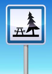 Panneau de signalisation aire de pique-nique