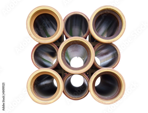Ceramic pipes isolated