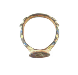 Ancient seal-ring with glaze (XVI century, Russia)