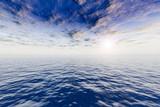 Seascape. Ocean & evening sky. poster