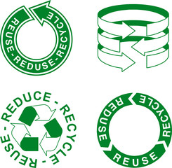 arrow for preservation of nature: reuse, reduce, recycle