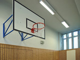 basketball goal, sporthalle poster