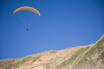 Paragliding in southern California.