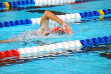Swimmer Working Out