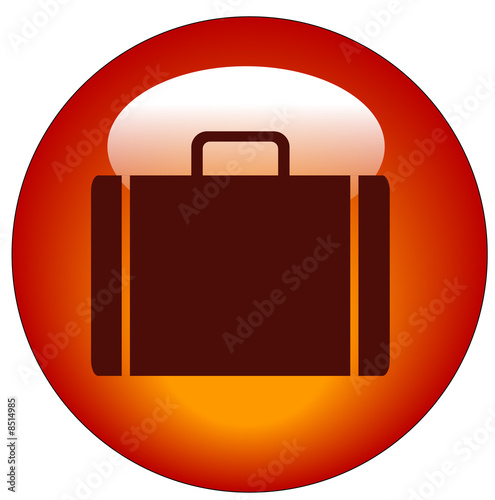 web business briefcase web button or icon