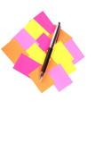 colour memo stick poster