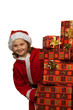 Kind als Weihnachtsmann