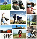 People in hike poster