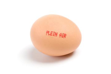 œuf plein air