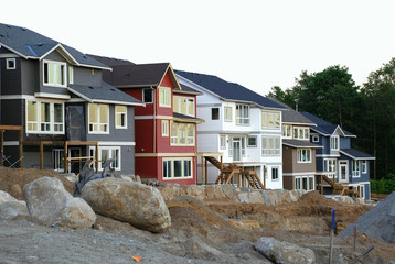 Row of Newly Constructed Houses