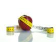 Manzana y cinta metrica