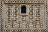 Ornamental pattern of Arabian residential construction poster