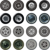 Vector truck wheels set