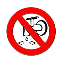 Tropfender wasserhan verboten