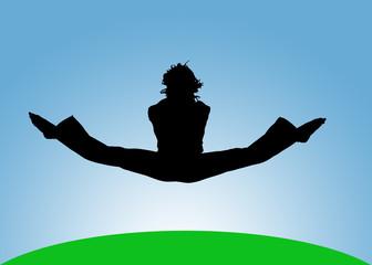 salto a gambe aperte