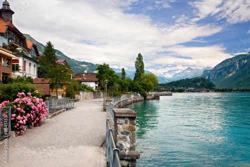 Walking by the Lake in Brienz, Berne, Switzerland