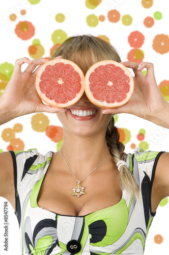 grapefruit and glasses