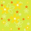Vektor Retro Blumendesign Hintergrund Floral