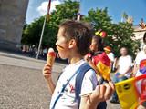 deutscher fans auf der strasse poster
