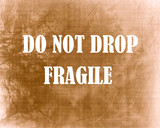 Fragile crate poster