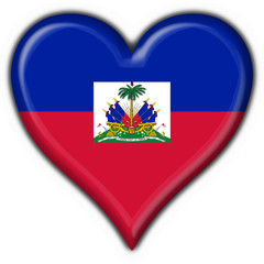haiti button flag heart shape