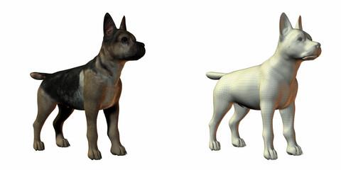 shepherd dog 3d model