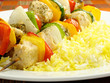 Chicken Kebab and Saffron Rice