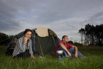 a couple on a camping