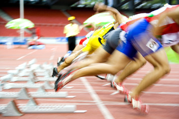 Athletes Starting with Motion Blur