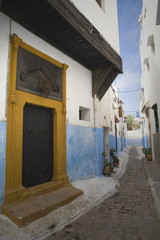rue colorée de Rabat, Maroc