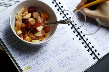 Break for fruit salad