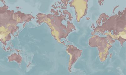 Mercator world map
