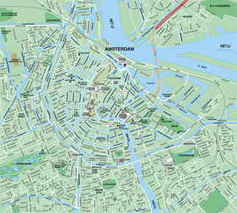 Downtown Amsterdam Map