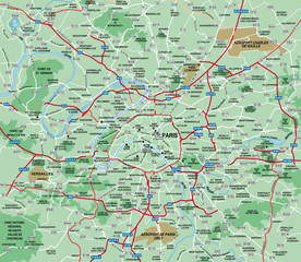 Paris Metropolitan Area map