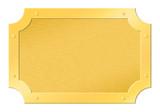 Brushed golden framed tablet cutout poster