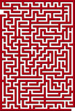 Vector illustration of red maze